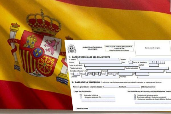 carta-invitación a España para extranjeros